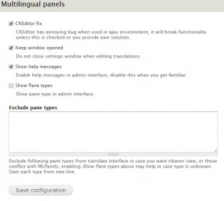 mlpanels - Settings page